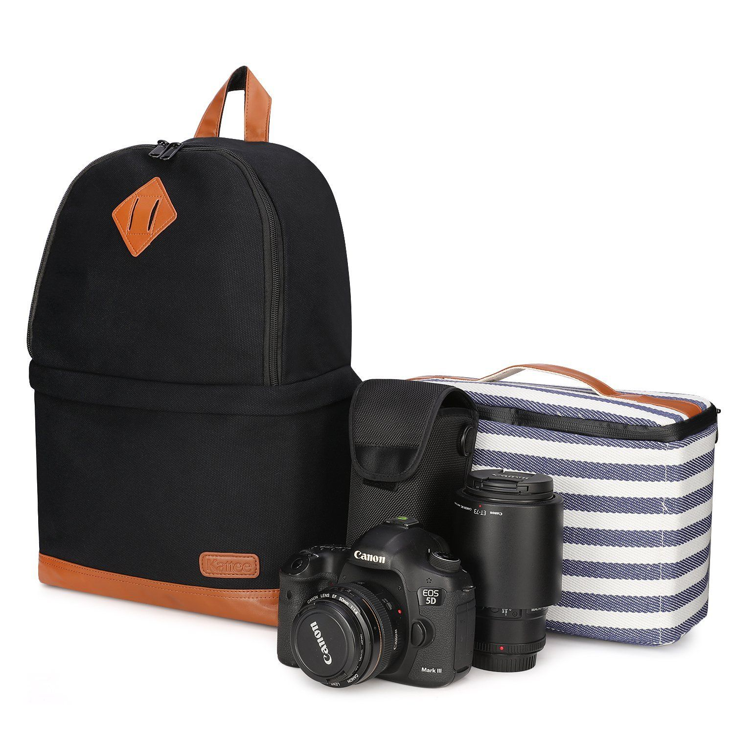 Size : Backpack+Tripod Multifunctional Camera Backpack Fashionable Photo Video Bag Case with Large Capacity for SLR DSLR Camera