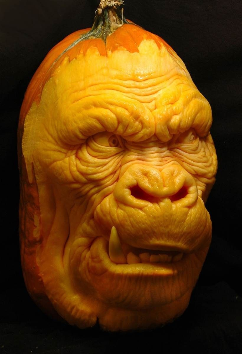 33 Carve Your Pumpkin When You Could Bedazzle Or Paint One Pumpkin Carving Amazing Pumpkin Carving Halloween Pumpkins Carvings