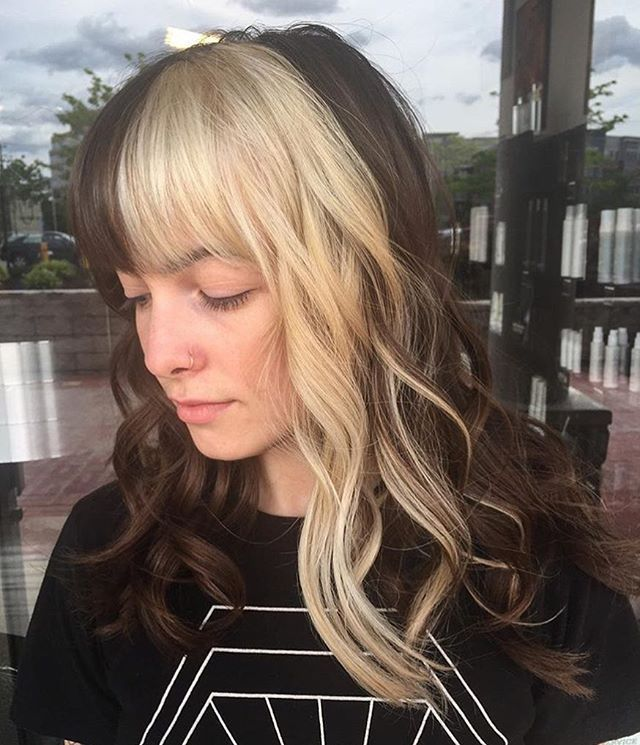Balayage Brown To Blonde With Fringe Websta Imallaboutdahair Split Personality