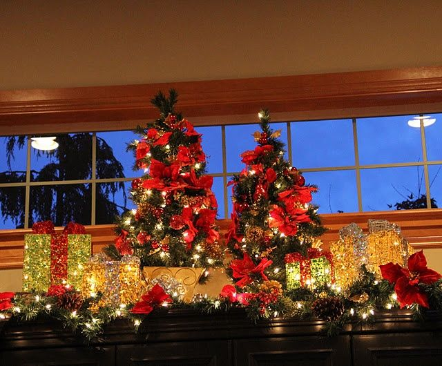 decorating top of entertainment center for christmas google search - Entertainment Center Christmas Decorating Ideas