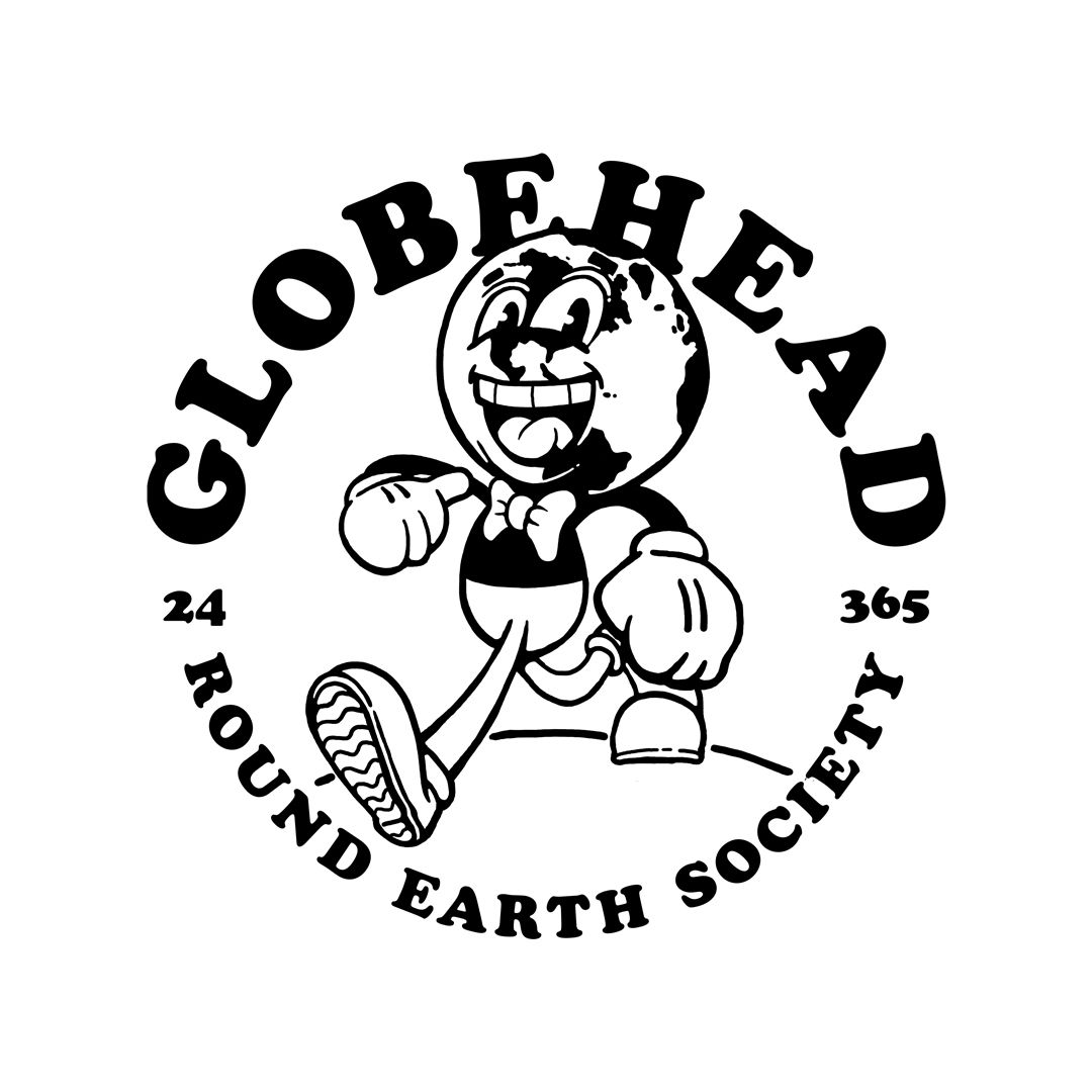 Globehead Graphic tshirt design, Typographic logo design