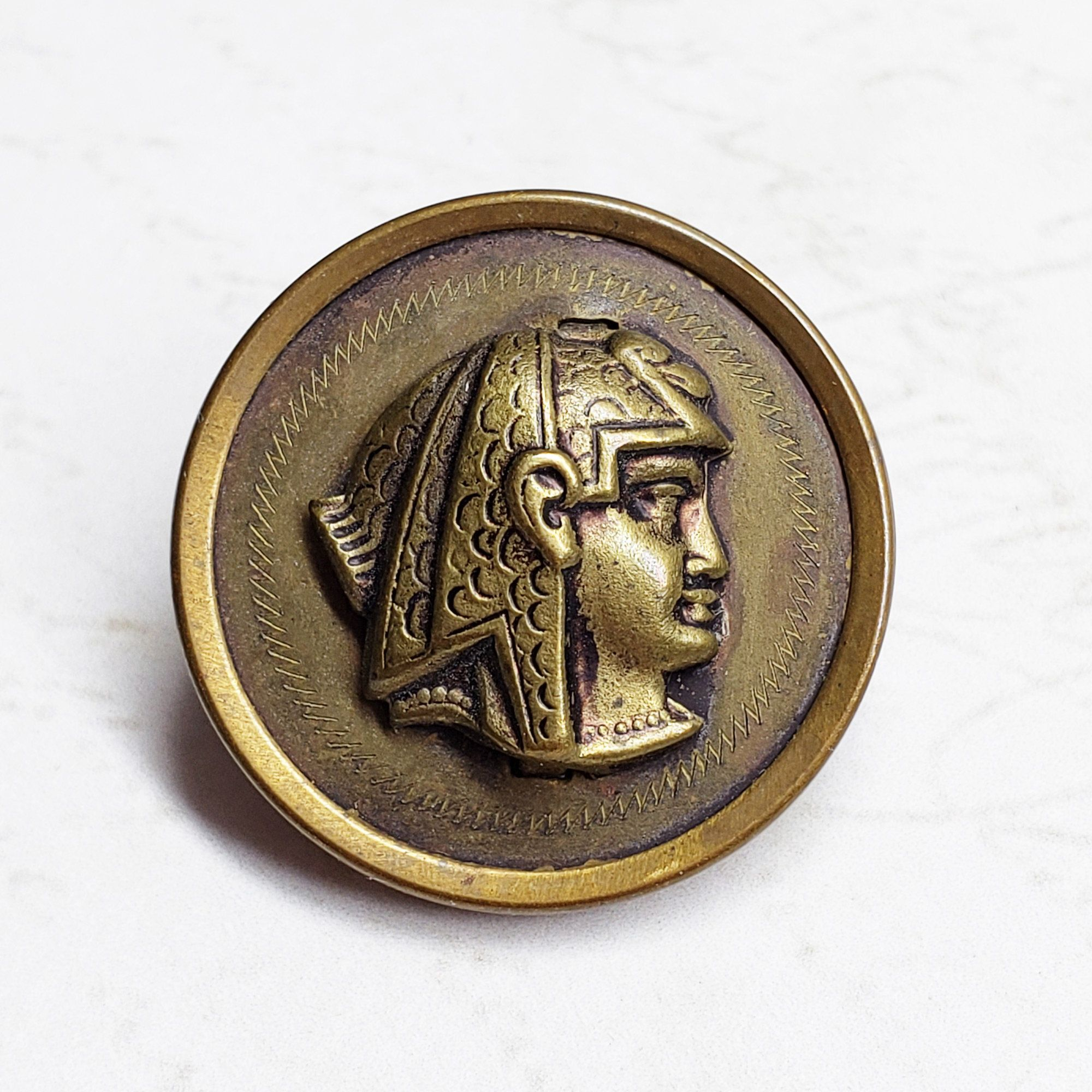 brass Egyptian picture buttons