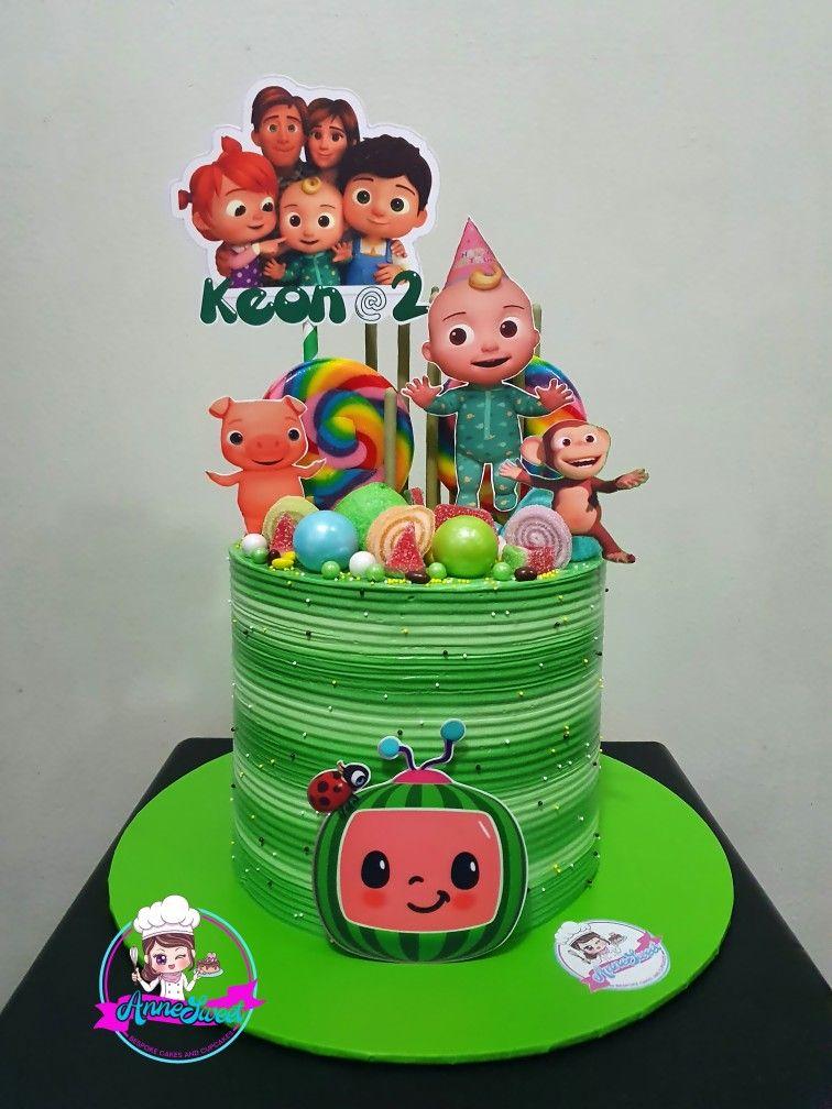 cocomelon cake icing design COCOMELON THEMED CAKE in 1  Themed cakes, Cake, Melon cake