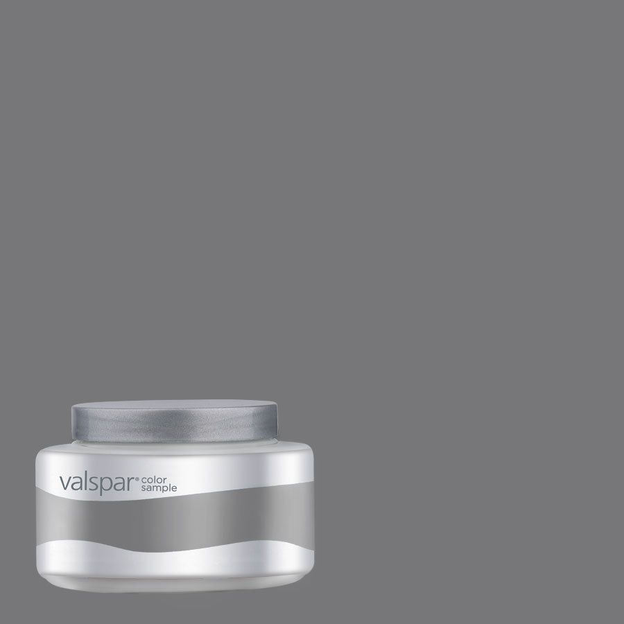 Shop Valspar 8oz Pantone Charcoal Gray Interior Satin Paint