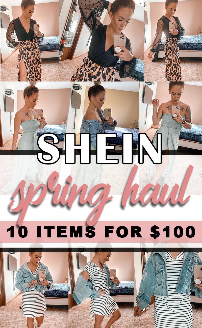 Shein Haul Spring Fashion 2020 10 Items For 100 With Free Express Shipping Golddiamondheartnecklace Fashion Shein Outfits Fashion 2020