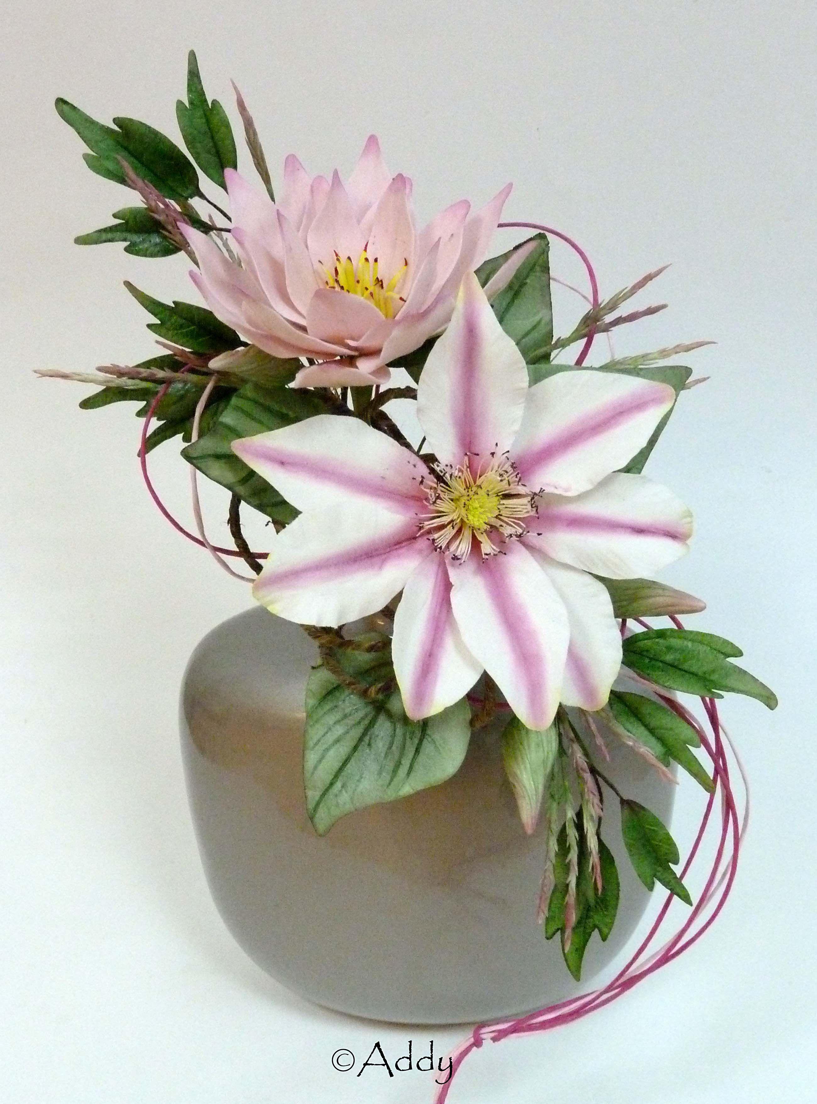 Clematis water lily masterclass alan dunn gumpaste flowers clematis water lily masterclass alan dunn izmirmasajfo