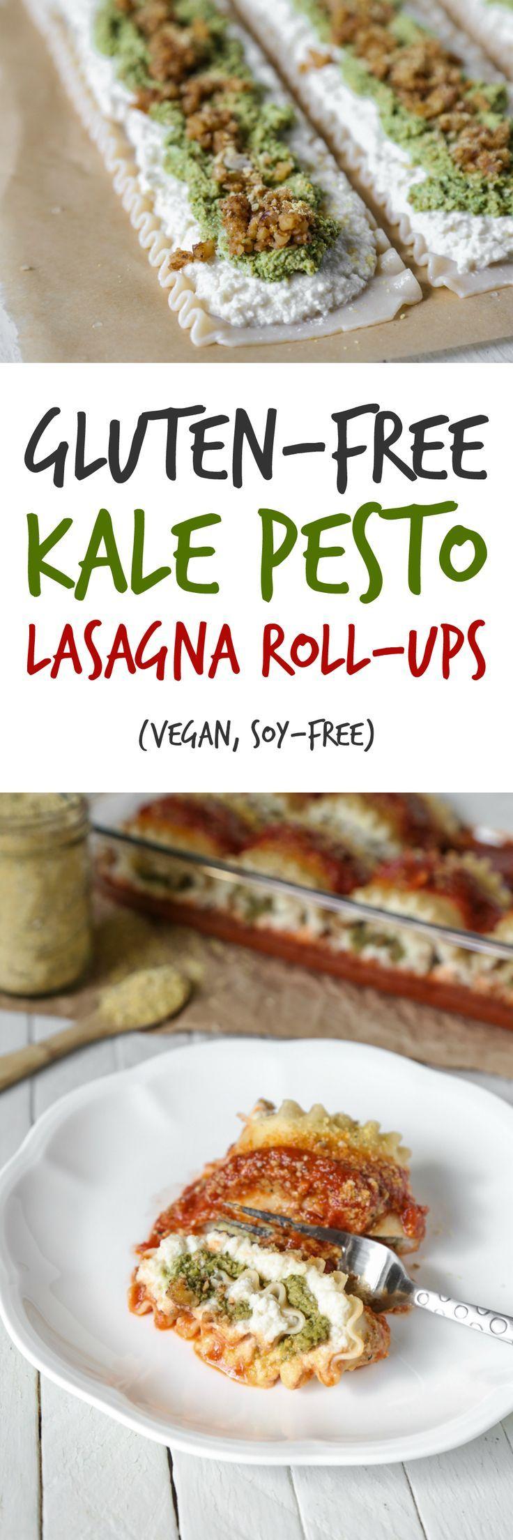 Glutenfree kale pesto lasagna rollups vegan soyfree