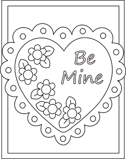 Valentine coloring cards free printable Valentine cards