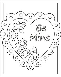 valentine coloring cards free printable valentine cards