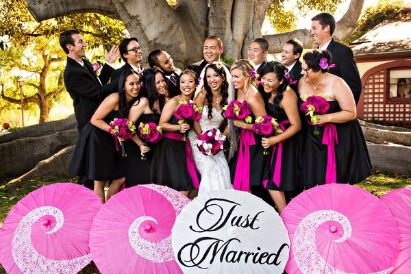 Results for Black White And Pink Wedding Theme - pink black and white weddings