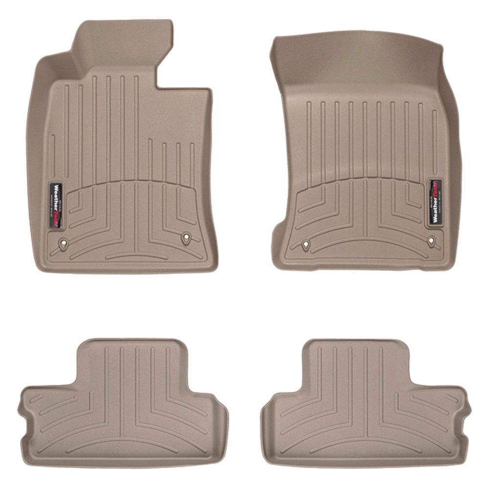 "WeatherTech 454301-451362 Series Tan Front and Rear FloorLiner - FloorLiner(TM) In the quest for the most advanced concept in floor protection, the talented designers and engineers at WeatherTech(R) have worked tirelessly to develop the most advanced floor protection available today! The WeatherTech(R) FloorLiner(TM) accurately and completely lines the interior carpet giving ""absolute interior protection(TM)""! The WeatherTech(R) FloorLiner(TM) lines the interior carpet up the front, back and…"