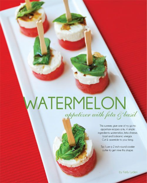 Watermelon Appetizer on Pinterest   Baguette Appetizer ...