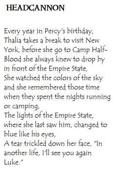 Percy Jackson Headcanon List