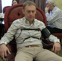 Accused: Andrei Lugovoi takes the polygraph test