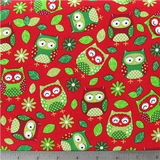 red christmas owls fabric shop hobby lobby
