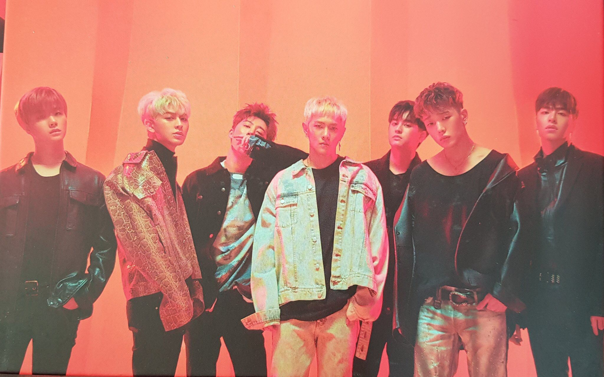 iKON Official Poster The New Kids Album Repackage Red Ver