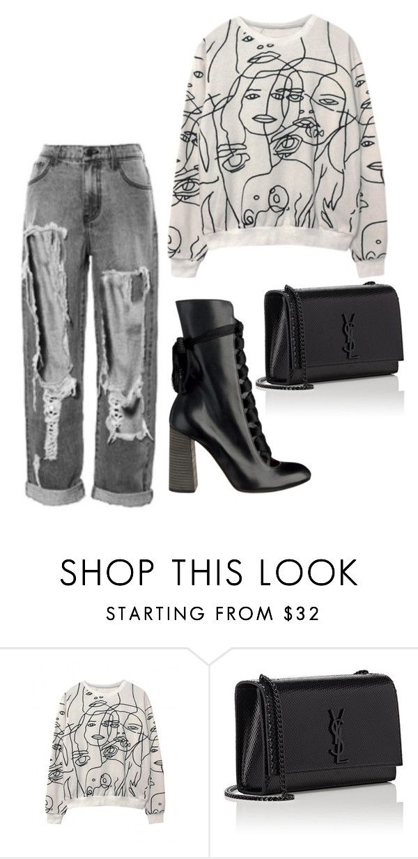 """""""Untitled #1370"""" by artiola-fejza ❤ liked on Polyvore featuring Yves Saint Laurent"""