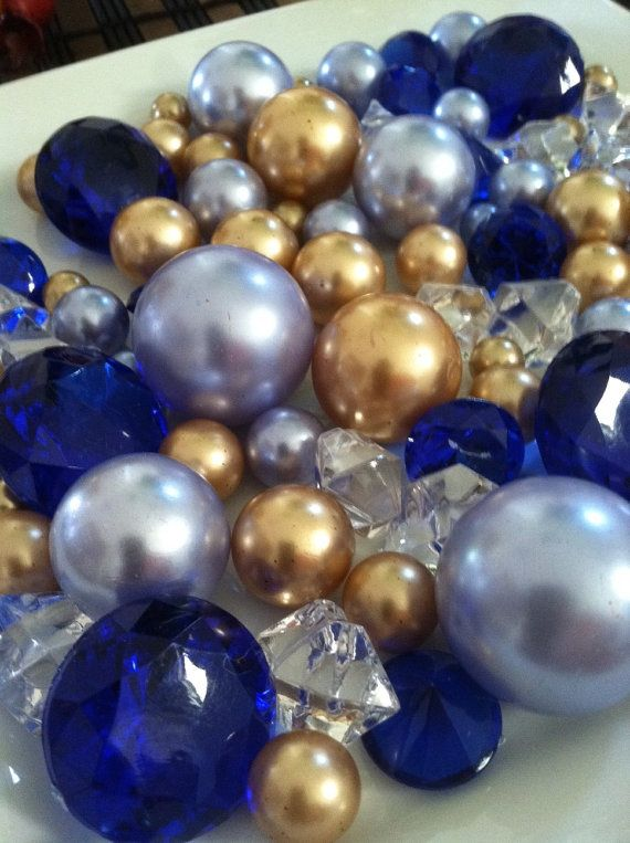 Diamonds And Pearls Royal Blue Light Blue Golden By Mikialaplace Holiday Amp Special Events