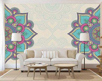 Mandala Decal Wall Wallpaper Mural Bohemian