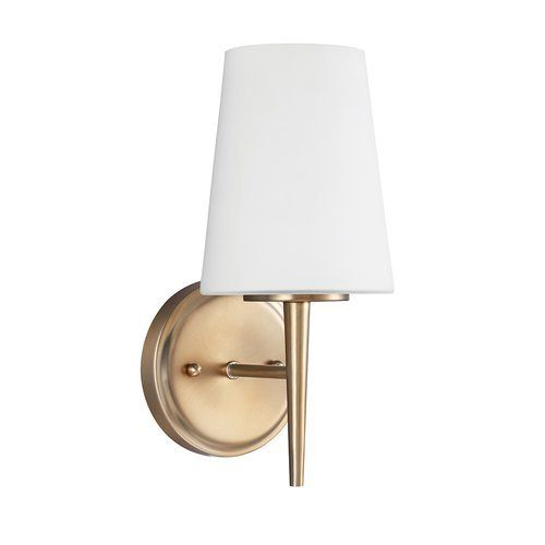 Sea Gull Lighting 4140401848 Driscoll Glass Wall Sconce Lighting 1 Light 75W Bronze -- Learn more by visiting the image link.