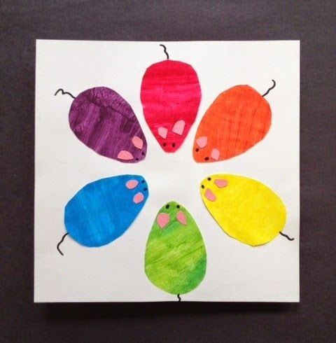 Mouse Color Wheel Painting Activity To Teach Primary And Secondary Colors Cute