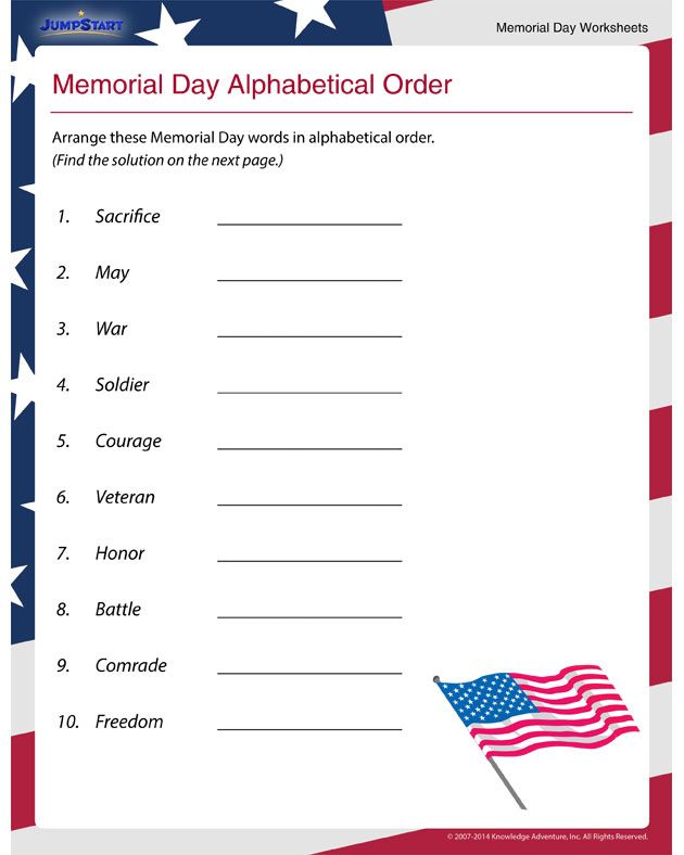 It's just an image of Memorial Day Printable Activities with regard to 1st grade