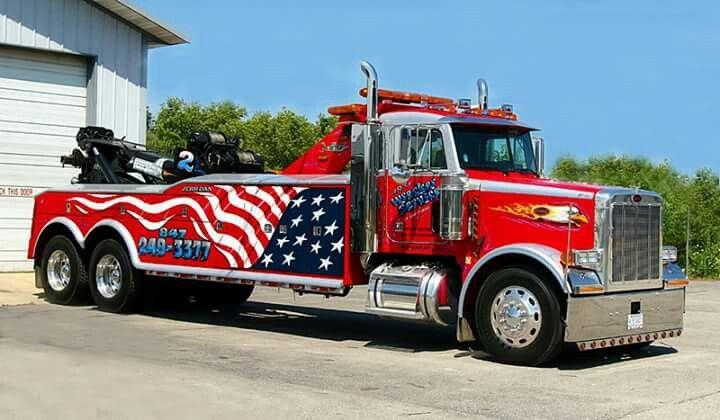 Got a nice fleet. Tow truck, Wrecker, Big trucks