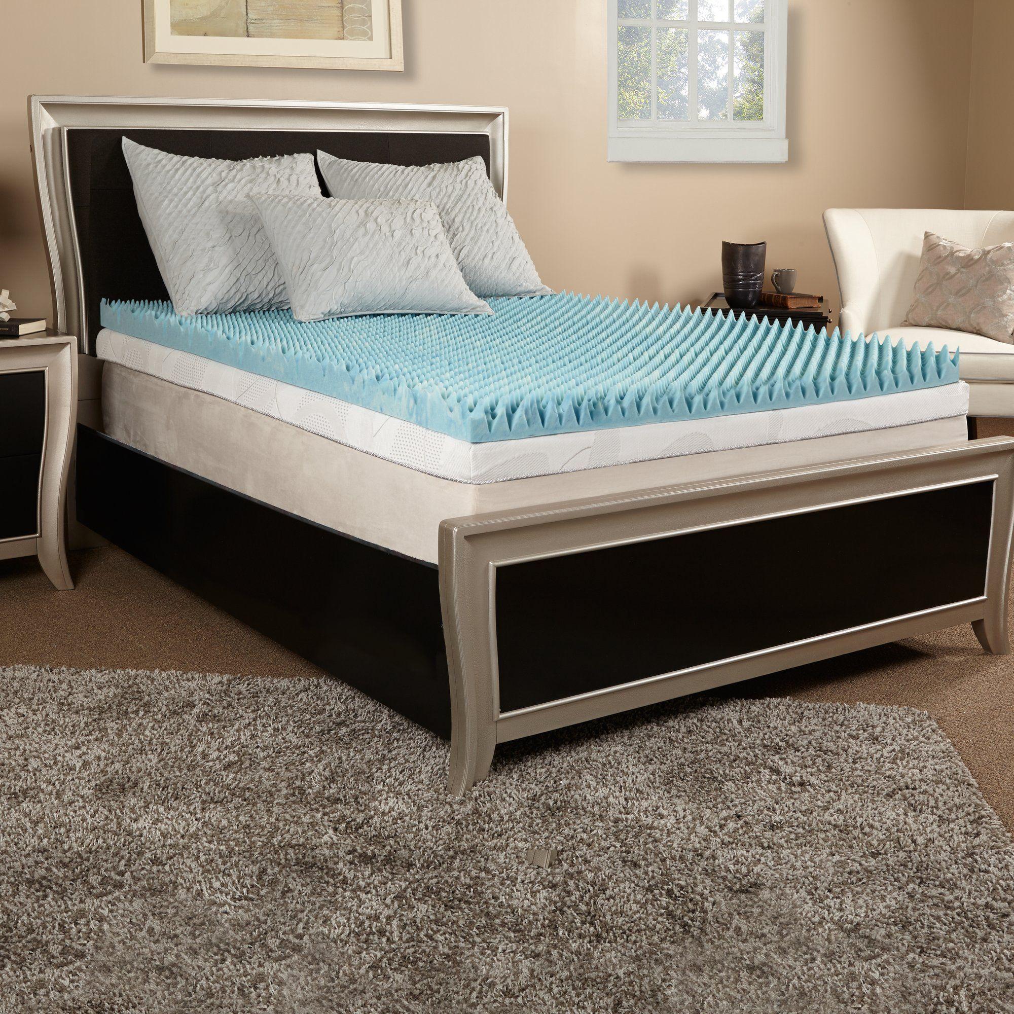 3 textured gel memory foam mattress topper memory foam