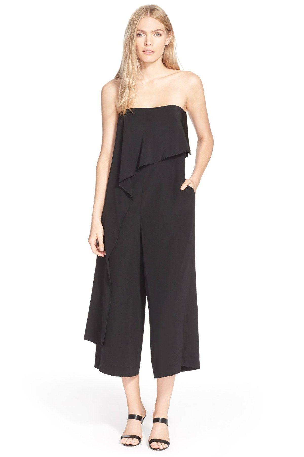 bd486bdafdd7 Strapless Silk Jumpsuit