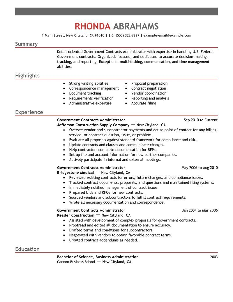 government  u0026 military resume examples