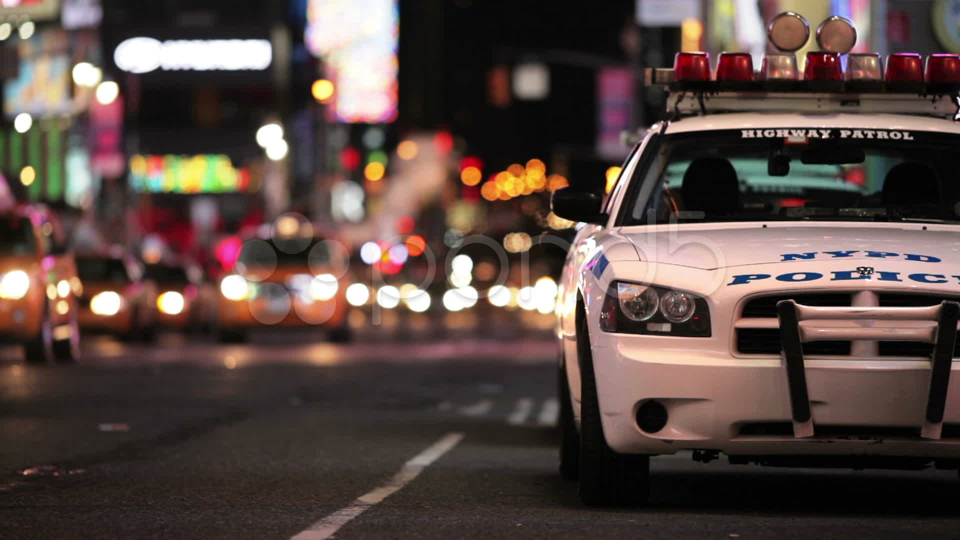 Police Car in Times Square, New York City Manhattan NYC
