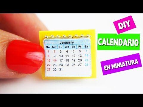 DIY Calendario en Miniatura- Manualidades para munecas