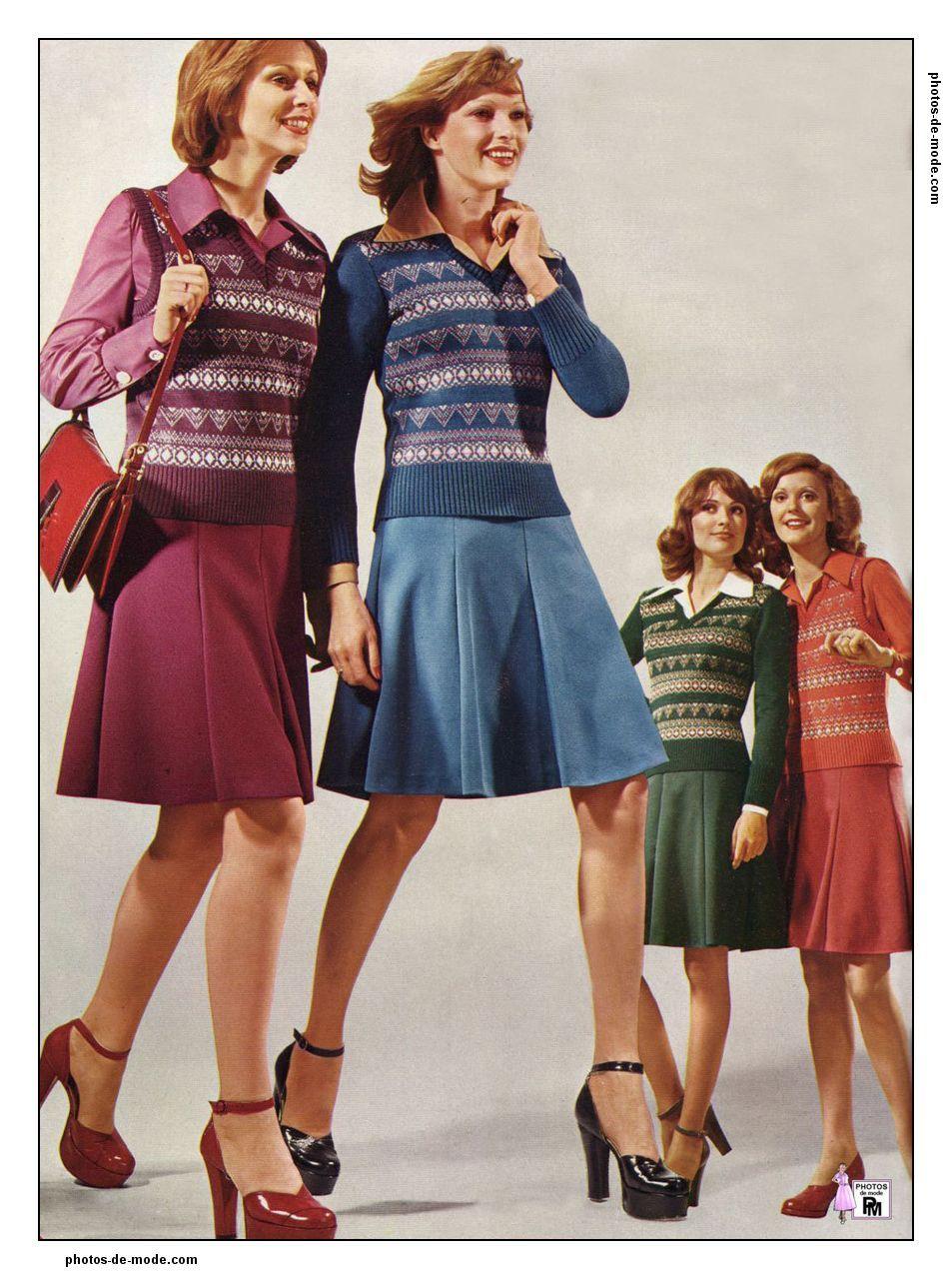 mini jupe 1974 70 39 s fashion 70s fashion et 70s women. Black Bedroom Furniture Sets. Home Design Ideas