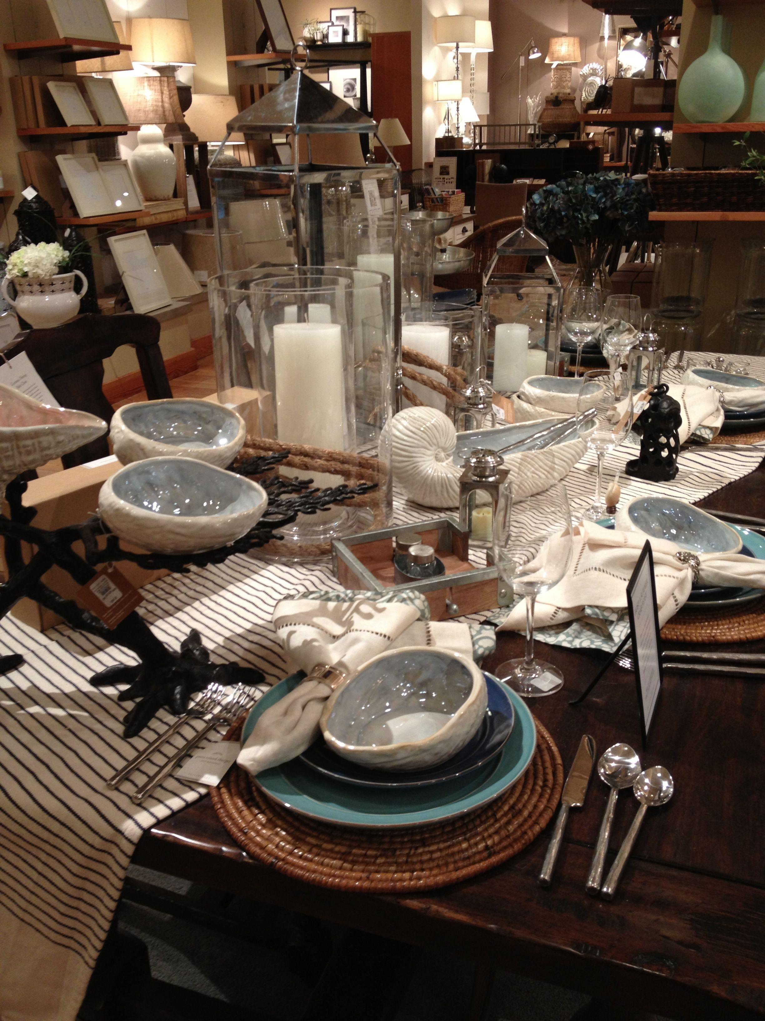 Nautical Table Settings Nautical Table Setting Table Settings Pinterest Tables