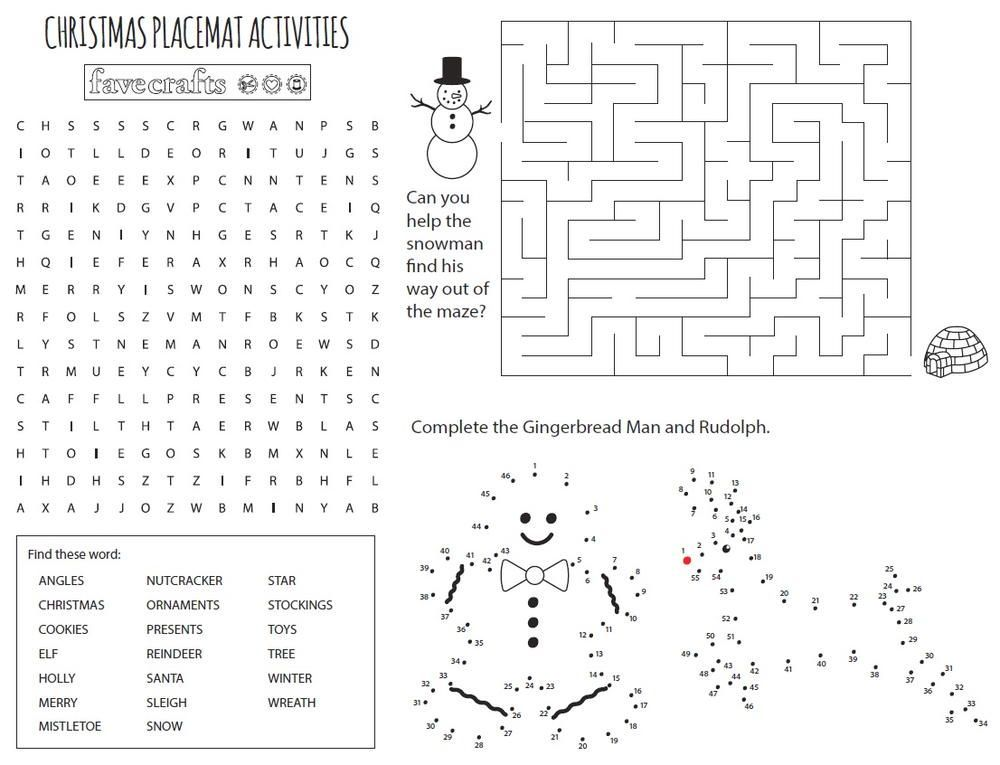 Free Printable Christmas Coloring Placemats Free Christmas Printables Coloring Placemats Christmas Printables