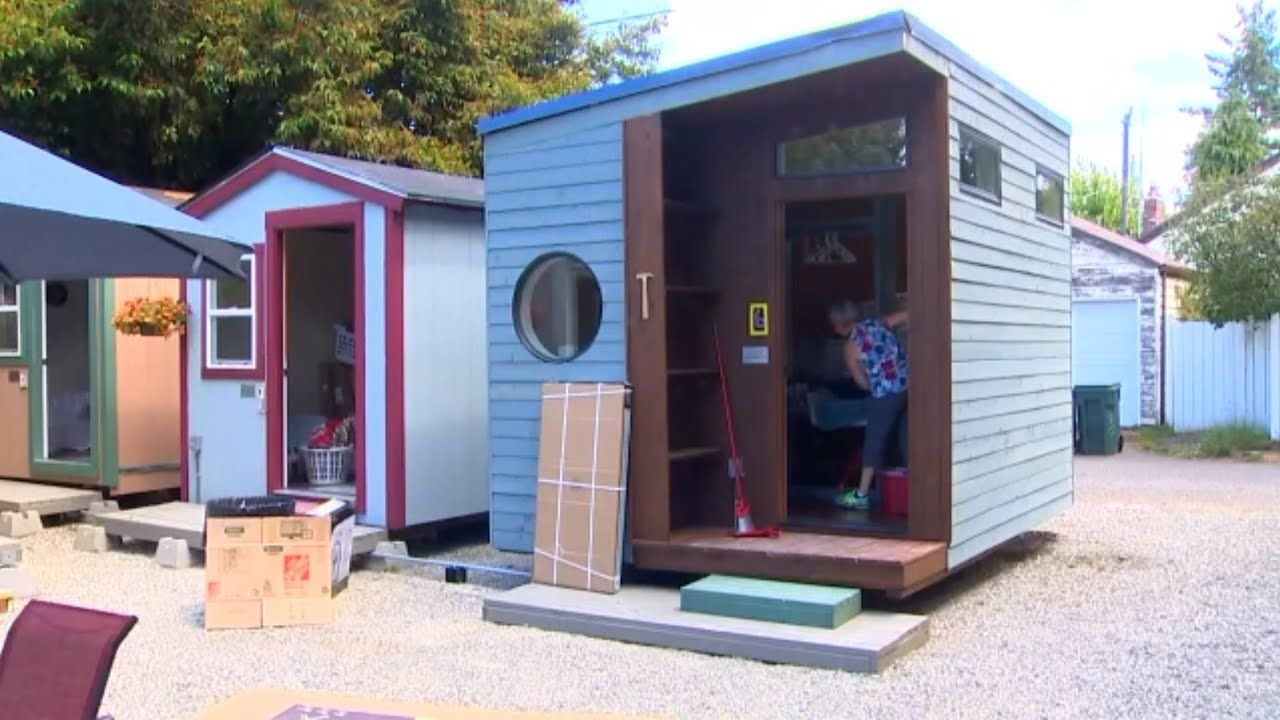 Tiny House Village For Homeless Women To Open In Seattle Youtube Tiny House Village Cheap Tiny House Shed To Tiny House