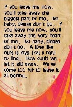 If you leave me now chicago lyrics chords