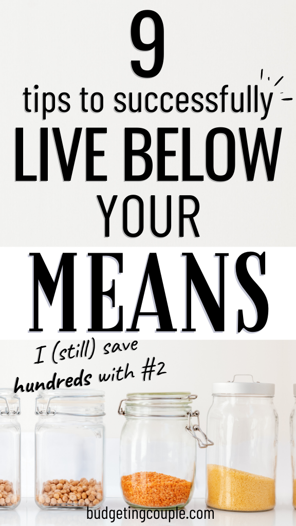 9 Frugal Tips to Live Below Your Means