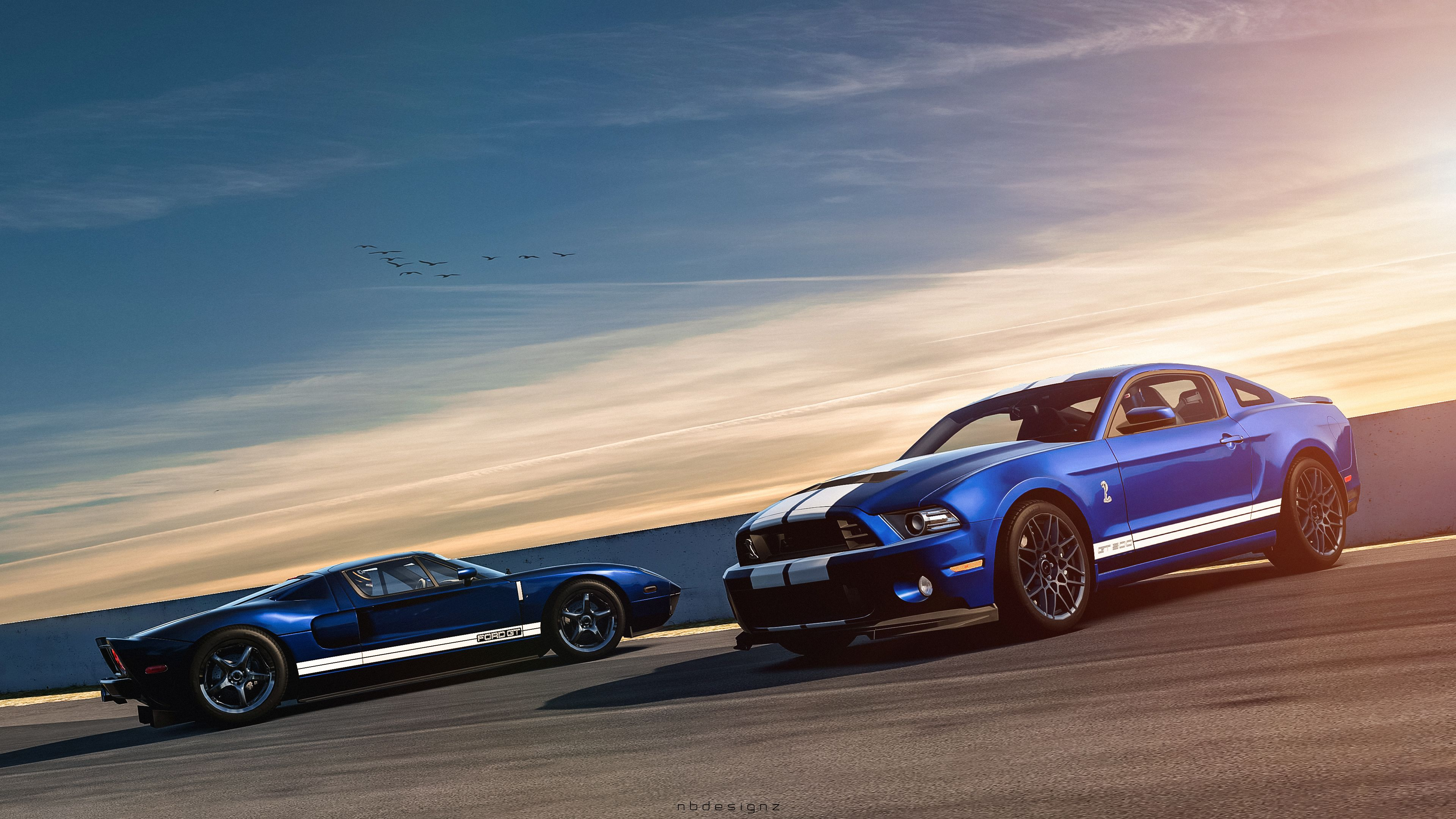 Ford Mustang Gt Muscle Car Blue Sports Cars  E  A X Bros Apparel Vintage Motor T Shirts Mustangs  E  A Great Price