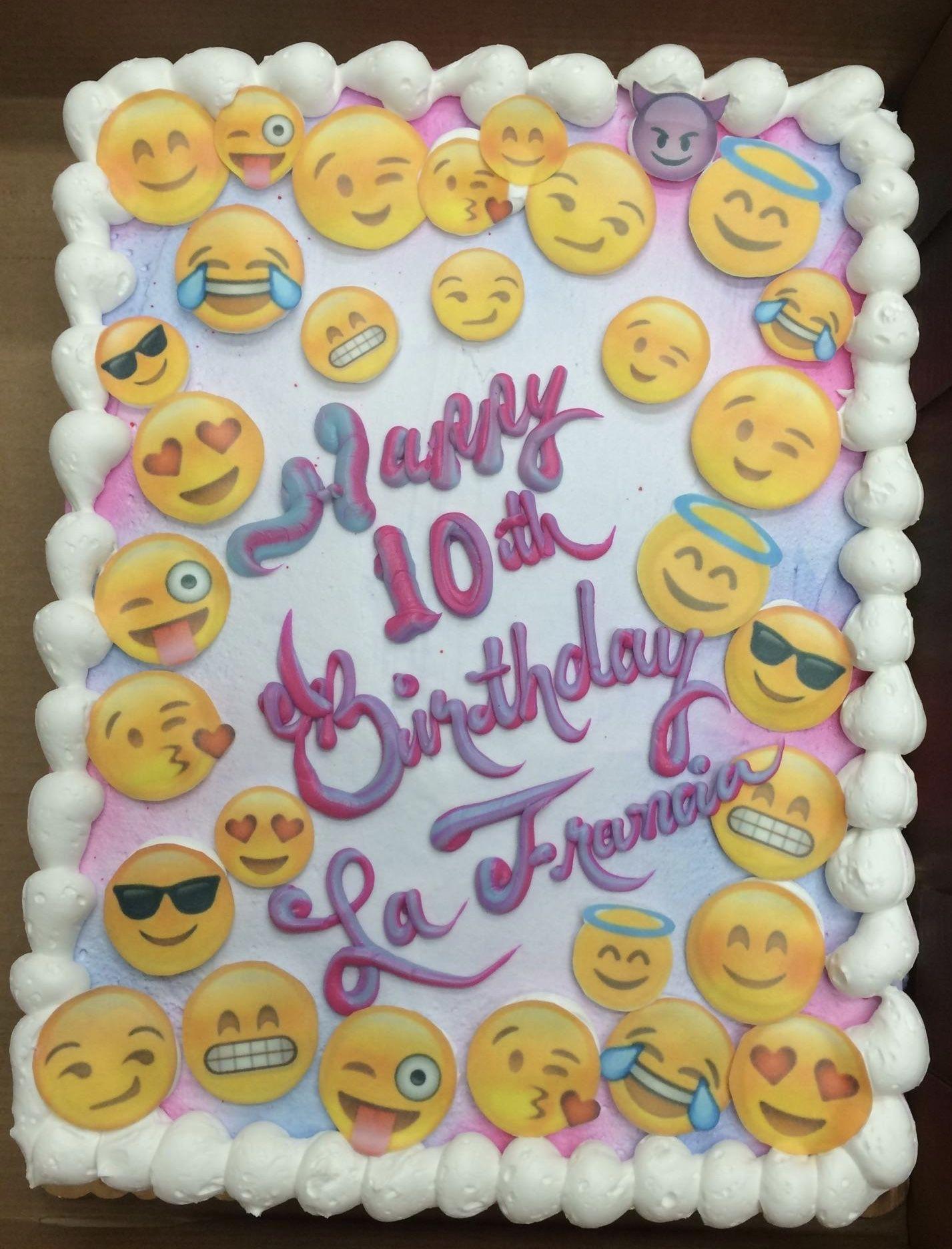 Cake Designs Emoji : Calumet Bakery Emoji Cake Girls Decorated Cakes ...