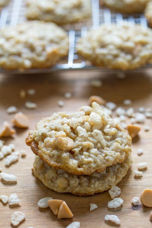 Butterscotch Oatmeal Rice Krispie Cookies