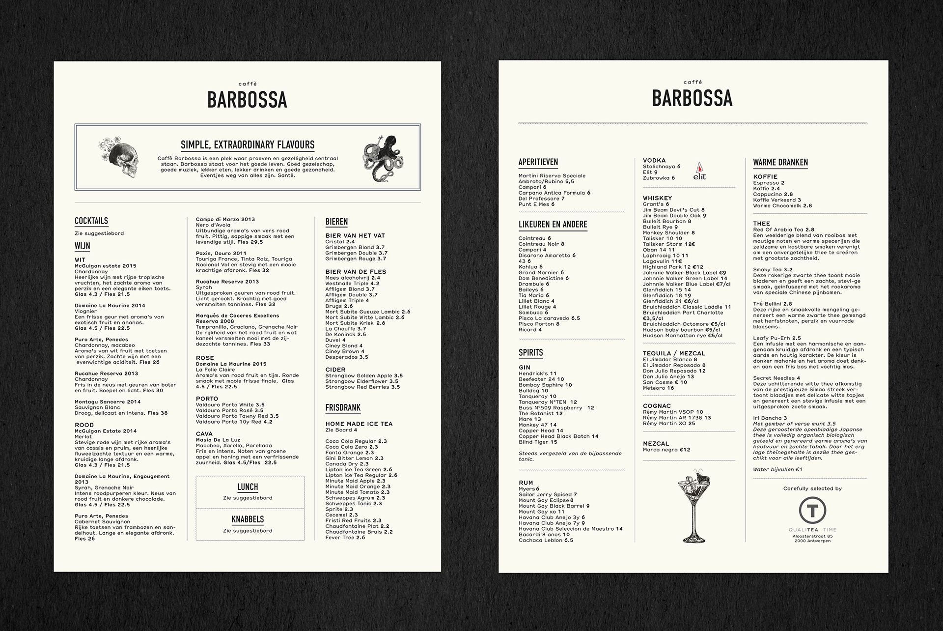 Caffe Barbossa On Behance News Cafe Fun Drinks Caffe