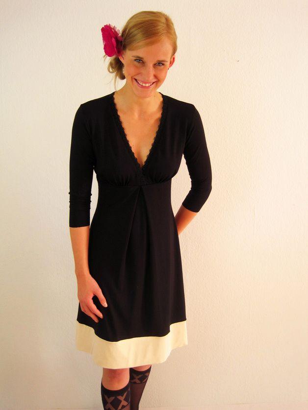 Gemma Kleid schwarz-creme | Creme, Dawanda und Schwarzer