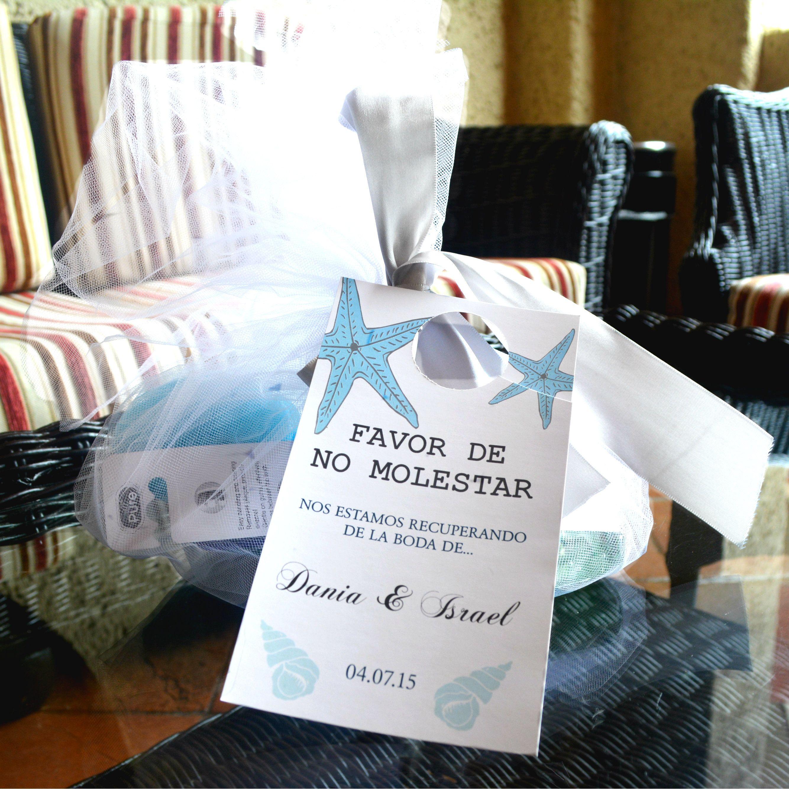 Cool Wedding Welcome Bag For Guests At Hotel Coral Marina Ensenada Baja