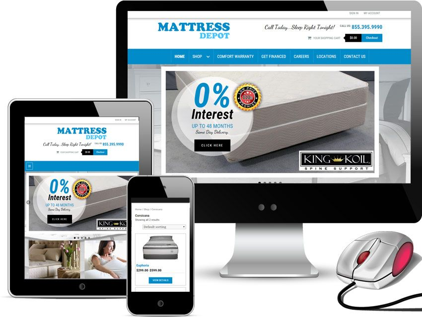 New Website Launched For Mattress Depot In Dallas Texas Mobile Web Design Website Design