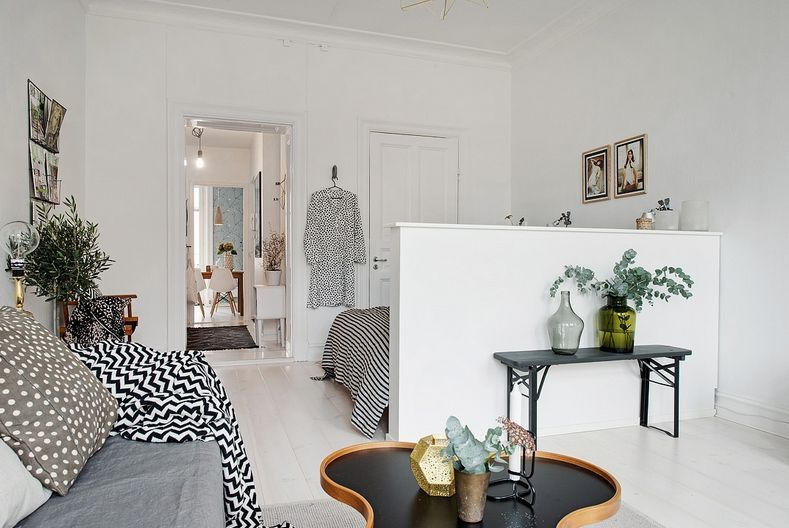 Scandinavian Apartment Makes Clever Use Of Small Space  Http Inspiration Small Space Living Room Design Inspiration Design