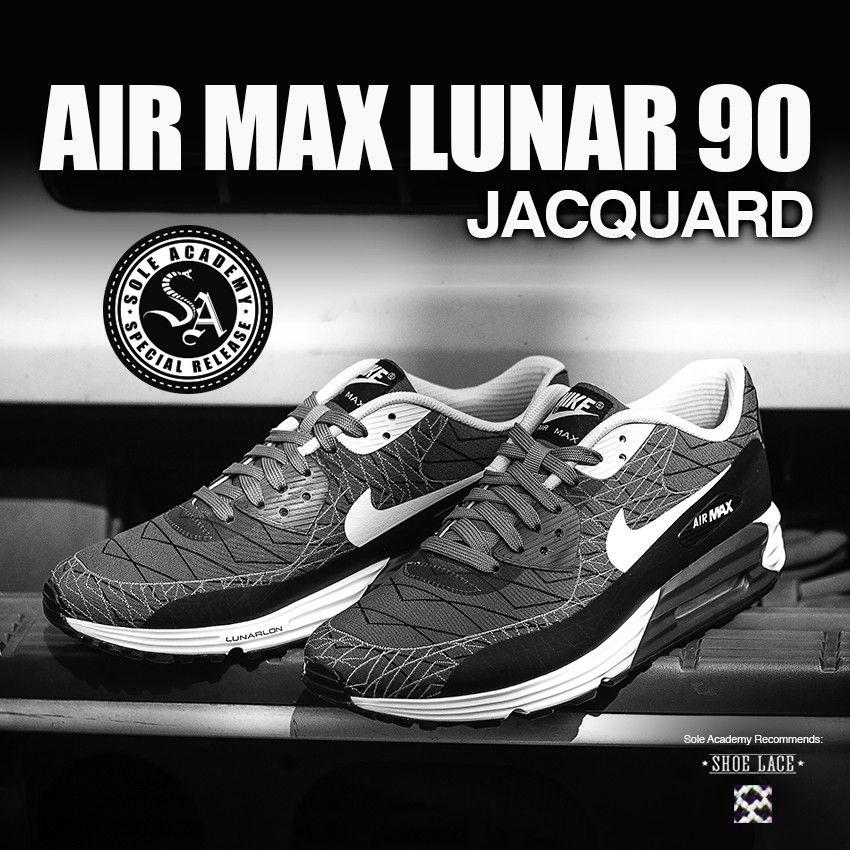 watch 2f7fc 2c057 NIKE AIR MAX LUNAR 90 JACQUARD (Light Ash White Black)