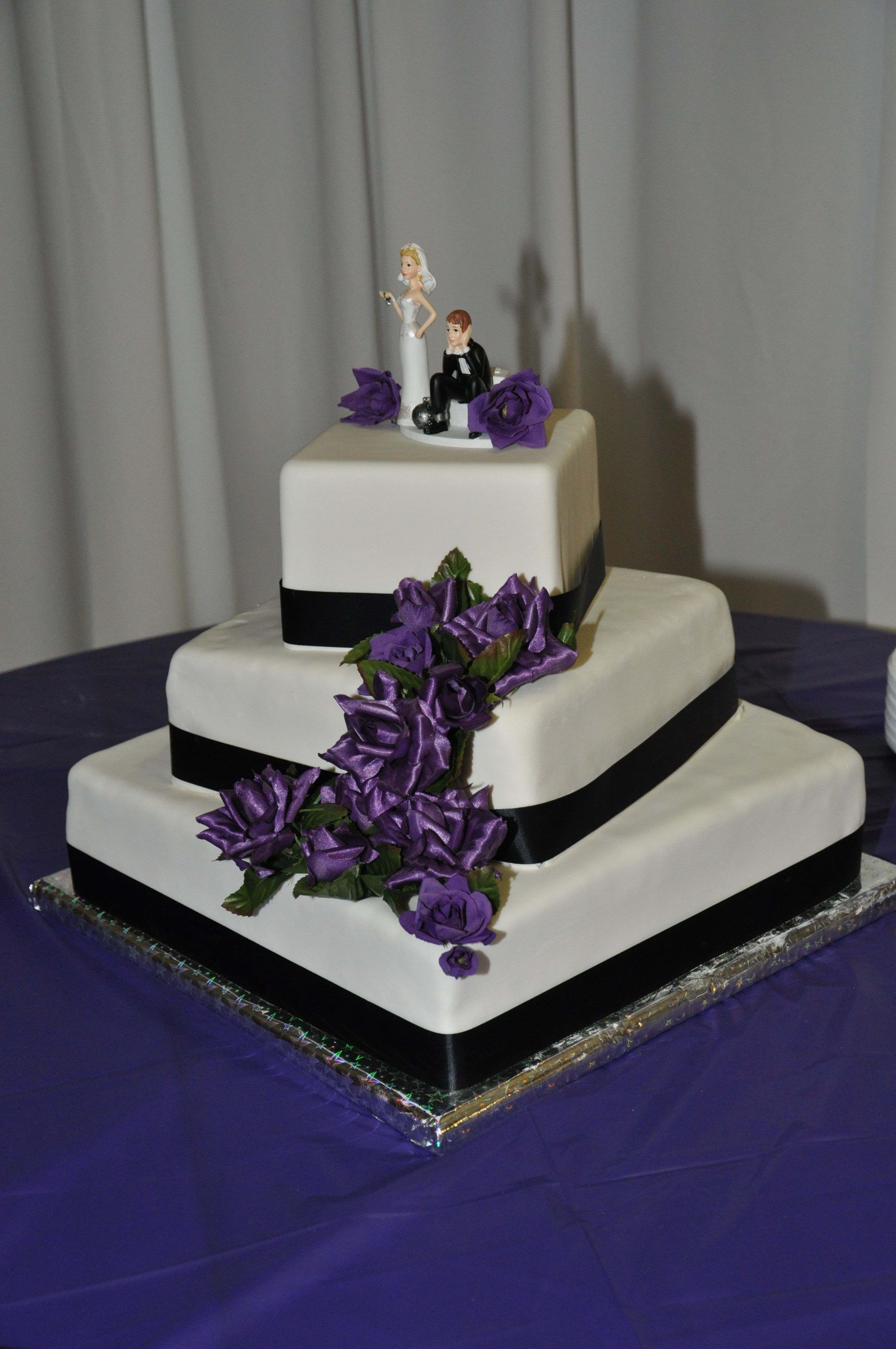 Wedding decorations table october 2018 My wedding cake and the cake topper my husband chose  Chocolate