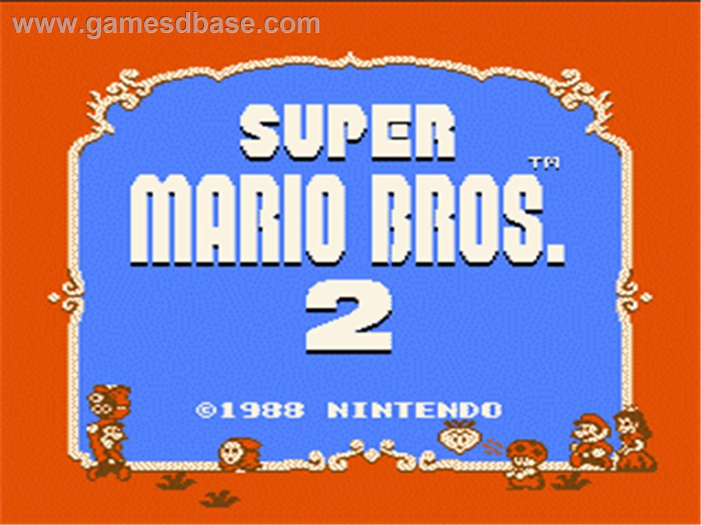 Title Screen Of Super Mario Bros 2 On The Nintendo Nes My