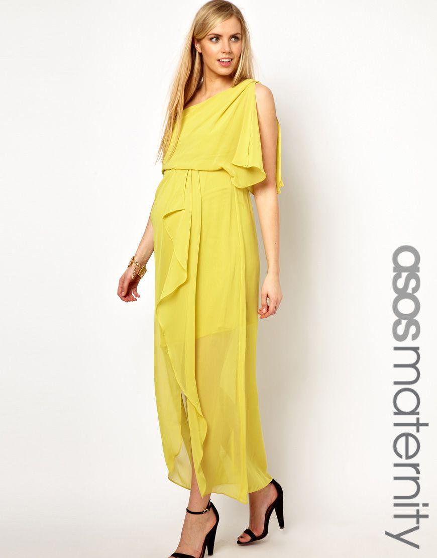 Asos maternity one shoulder drape maxi dress maternity dresses asos maternity one shoulder drape maxi dress ombrellifo Images